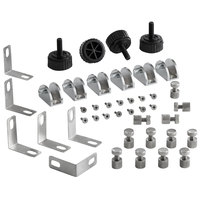 Avantco 360CPTSNZHDW Sneeze Guard Hardware Kit for 360CPT Countertop Prep Rails