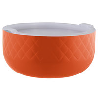 Bon Chef Diamond Collection Cold Wave 3.4 Qt. Orange Triple Wall Bowl with Cover