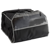 Vollrath VPB518 5-Series 19 inch x 19 inch x 9 inch Black Insulated Nylon Pizza Delivery Bag with Heating Pad