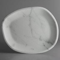 Carlisle 5310337 Ridge 18 inch Marble Melamine Oblong Platter - 6/Case