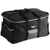 Vollrath VCBL5P00 5-Series 23 inch x 15 inch x 14 inch Black Large Insulated Catering Bag with Removable Liner, 3 Pan Separators, Heating Pad, and Power Pack