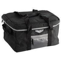 Vollrath VDBM500 5-Series 17 inch x 13 inch x 9 inch Black Insulated Catering Bag with Vinyl Liner and 12-Compartment Divider