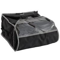 Vollrath VPB316 3-Series 17 1/2 inch x 17 1/2 inch x 9 inch Black Insulated Nylon Pizza Delivery Bag