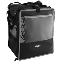 Vollrath VTBW500 5-Series 18 inch x 17 inch x 22 inch Black Insulated Nylon Tower Bag with Wire Insert, Backpack Straps, Headrest Strap, and Heating Pad