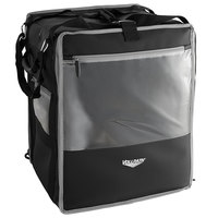 Vollrath VTB500 5-Series 18 inch x 17 inch x 22 inch Black Insulated Nylon Tower Bag with Backpack Straps, Headrest Strap, and Heating Pad