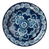 American Metalcraft BLUP5 Isabella 6 oz. Round Blue / White Floral Melamine Coupe Bowl