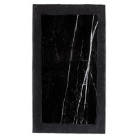 American Metalcraft MBR15 14 1/2 inch x 8 1/8 inch Rectangular Black Marble / Slate Two-Tone Melamine Serving Platter