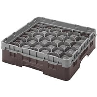 Cambro 30S800167 Brown Camrack Customizable 30 Compartment 8 1/2 inch Glass Rack