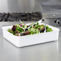 Carlisle 811202 White 10 lb. Rectangular Deli Crock