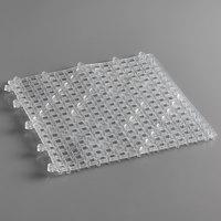Choice 12 inch x 12 inch Clear Interlocking Bar Mat - 12/Pack