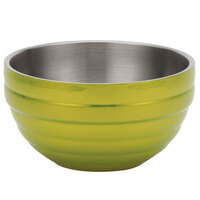 Vollrath 4659030 Double Wall Round Beehive 1.7 Qt. Serving Bowl - Lemon Lime