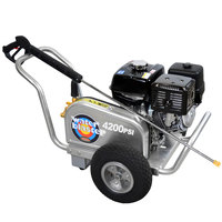 Simpson 60827 Aluminum Water Blaster Pressure Washer with Honda Engine and 50' Hose - 4200 PSI; 4.0 GPM