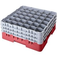 Cambro 36S1058416 Cranberry Camrack 36 Compartment 11 inch Glass Rack