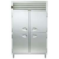 Traulsen RHT226WPUT-HHS Stainless Steel Two Section Solid Half Door Shallow Depth Pass-Through Refrigerator - Specification Line