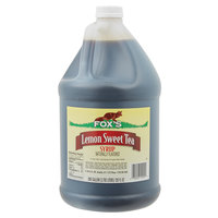 Fox's 1 Gallon Sweetened Iced Tea Concentrate with Lemon Flavor