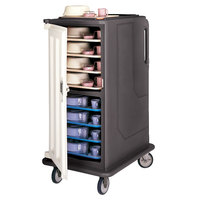 Cambro MDC1520T16194 Granite Sand 2 Compartment Meal Delivery Cart 16 Tray