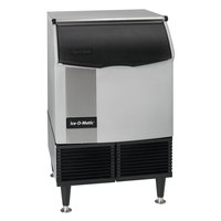 Ice-O-Matic ICEU150FW 24 1/2 inch Water Cooled Undercounter Full Dice Cube Ice Machine with 70 lb. Bin - 115V; 185 lb.