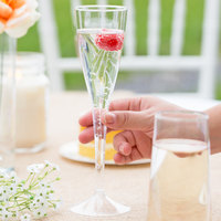 WNA Comet CWSC5 5 oz. 1-Piece Clear Plastic Classicware Champagne Glass - 10/Pack