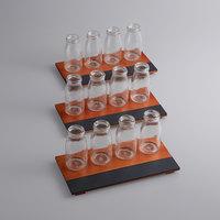 Acopa Chalkboard Tray with 6 oz. Milk Bottles - 3/Set