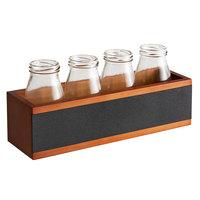 Acopa Chalkboard Crate with 6 oz. Milk Bottles - 3 Sets/Case