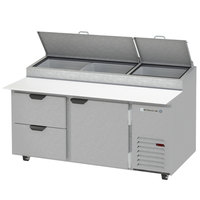 Beverage-Air DPD67HC-2 67 inch 2 Drawer Pizza Prep Table