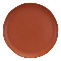 Elite Global Solutions B183140-STCS Morocco 14 inch Round Matte Sunburn Terra Cotta Speckled Melamine Plate - 6/Case