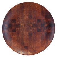 Elite Global Solutions ECO99R-CK Checkered 9 inch Round Bamboo / Melamine Plate - 6/Case