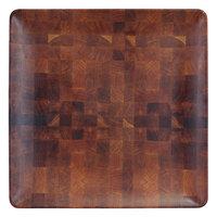 Elite Global Solutions ECO1111SQ-CK Checkered 11 inch Square Bamboo / Melamine Plate - 6/Case