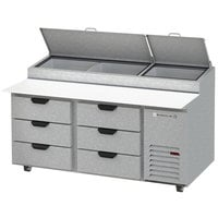 Beverage-Air DPD67HC-6 67 inch 6 Drawer Pizza Prep Table