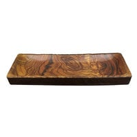 Elite Global Solutions M1671RC-SEQ Sequoia 16 1/8 inch x 7 inch Rectangular Wood Grain Melamine Serving Platter