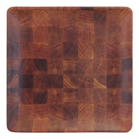 Elite Global Solutions ECO66SQ-CK Checkered 6 inch Square Bamboo / Melamine Plate - 6/Case