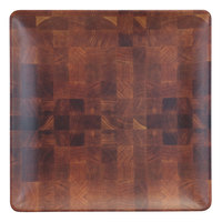 Elite Global Solutions ECO99SQ-CK Checkered 9 inch Square Bamboo / Melamine Plate - 6/Case
