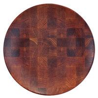 Elite Global Solutions ECO66R-CK Checkered 6 inch Round Bamboo / Melamine Plate - 6/Case
