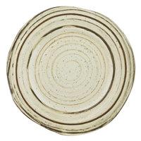 Elite Global Solutions B154079-BCHD Doheny 7 7/8 inch Beach Design Irregular Round Melamine Plate - 6/Case