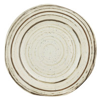 Elite Global Solutions B154102-BCHD Doheny 10 1/4 inch Beach Design Irregular Round Melamine Plate - 6/Case