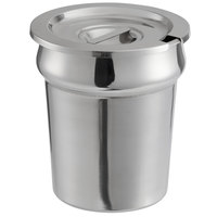 Stainless Steel Vegetable Inset with Notched Lid for Paragon 3 Qt. Warmers