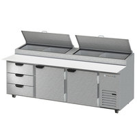 Beverage-Air DPD93HC-3 Hydrocarbon Series 93 inch 3 Drawer Pizza Prep Table