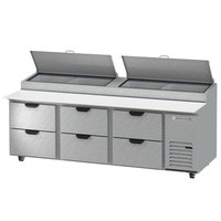 Beverage-Air DPD93HC-6 Hydrocarbon Series 93 inch 6 Drawer Pizza Prep Table