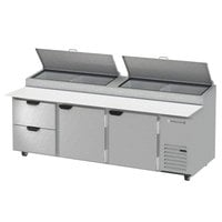 Beverage-Air DPD93HC-2 Hydrocarbon Series 93 inch 2 Drawer Pizza Prep Table