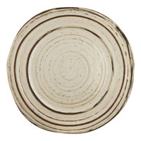 Elite Global Solutions B154059-BCHD Doheny 5 7/8 inch Beach Design Irregular Round Melamine Plate - 6/Case