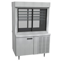 Delfield F15PC48NV 48 inch Narrow Depth Refrigerated Display Case with Storage Base and Pass-Through Back