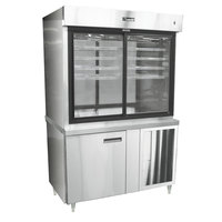 Delfield F15PC48N 48 inch Narrow Depth Refrigerated Display Case with Storage Base and Pass-Through Back - 23 Cu. Ft.
