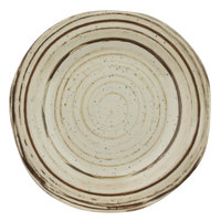 Elite Global Solutions B120154-BCHD Doheny 11 3/4 inch Beach Design Irregular Round Melamine Plate - 6/Case