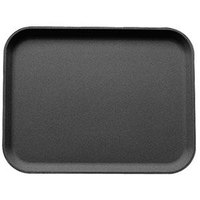 Cambro 1826CT110 Camtread 18 inch x 26 inch Black Non-Skid Serving Tray - 6/Case