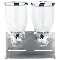 Zevro KCH-06146 Stainless Steel Designer Double Canister Dry Food Dispenser