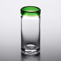 Acopa Tropic 3 oz. Shooter Glass with Green Rim - 12/Case