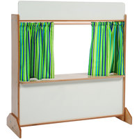 Whitney Brothers WB0965 Deluxe Puppet Theater with Dry Erase Surfaces - 12 inch x 31 3/4 inch x 34 3/16 inch