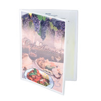 8 1/2 inch x 11 inch Menu Solutions Two Pocket Menu Cover