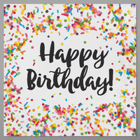Creative Converting 324664 Happy Birthday Sprinkles 2-Ply Luncheon Napkins   - 192/Case
