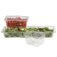 Carlisle 6986607 Modular Displayware 1/3 Size Clear Wavy Edge Food Pan - 6 inch Deep - 6 / Case